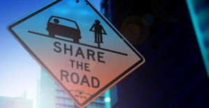 Share the road sign for drivers and bicyclists.